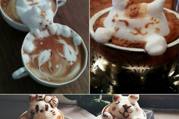 Latte Art- sztuka zdobienia kawy